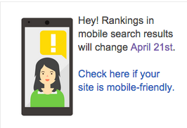Screen shot from Google Webmaster Center Blog