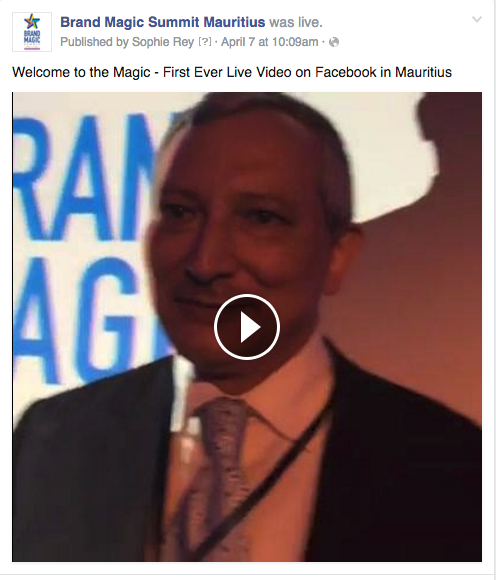 The first ever live Facebook video in Mauritius