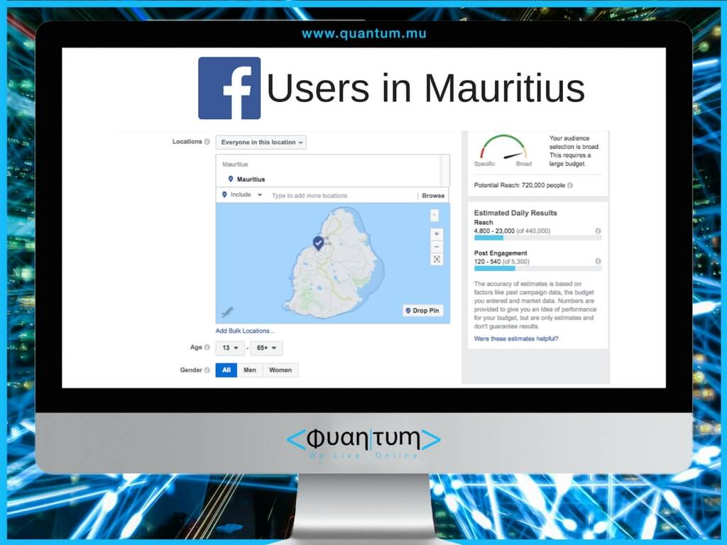 facebook users in mauritius october 2017