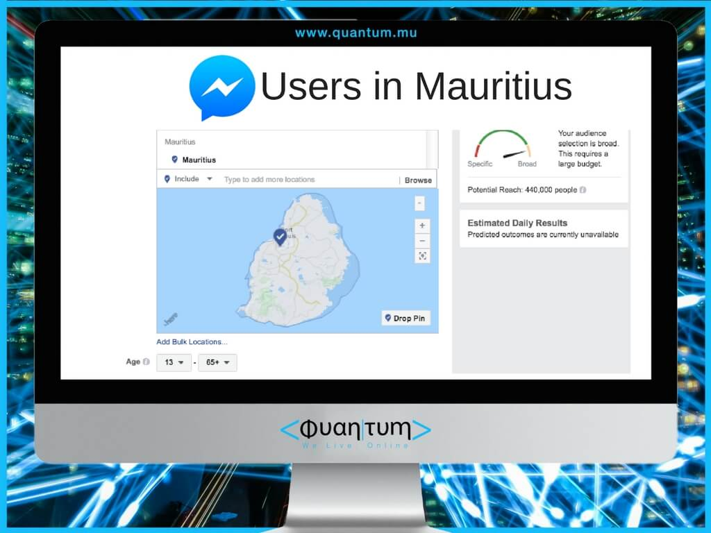 facebook messenger users in mauritius