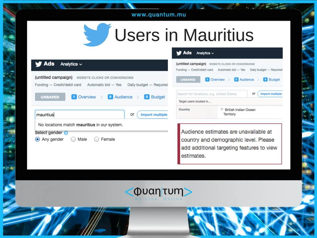 users on twitter in mauritius