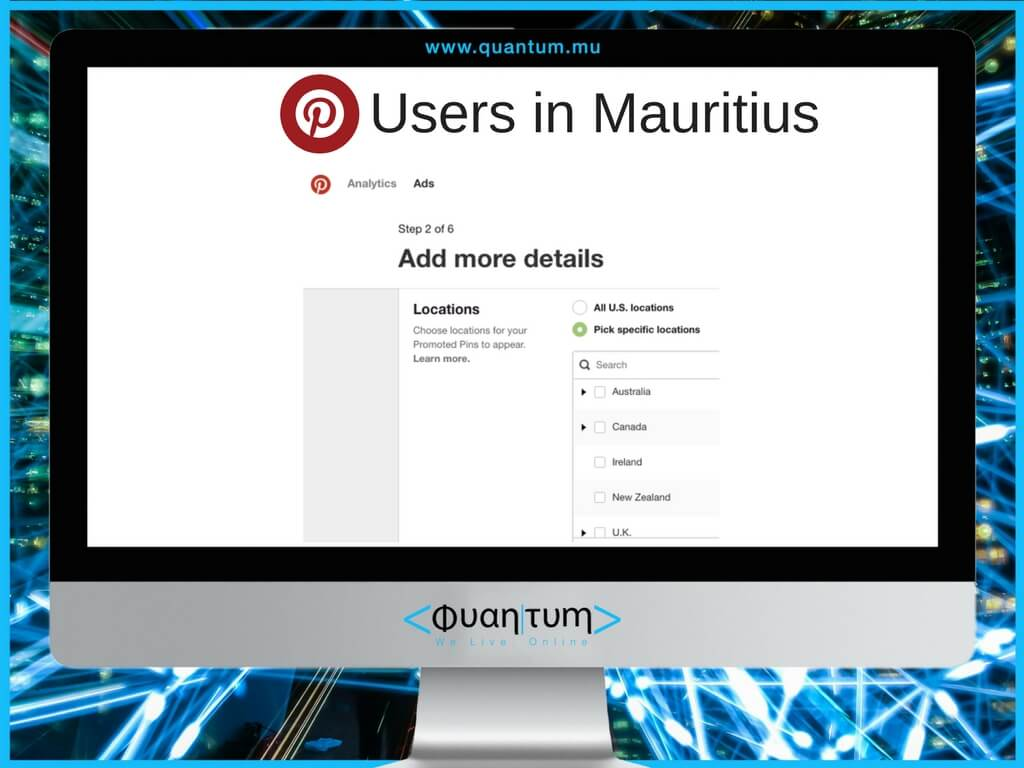 pinterest users in mauritius