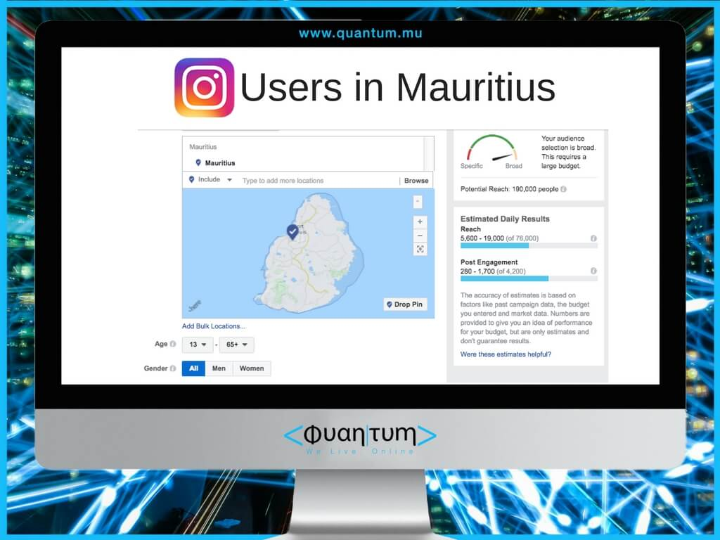 Instagram users in mauritius october 2017