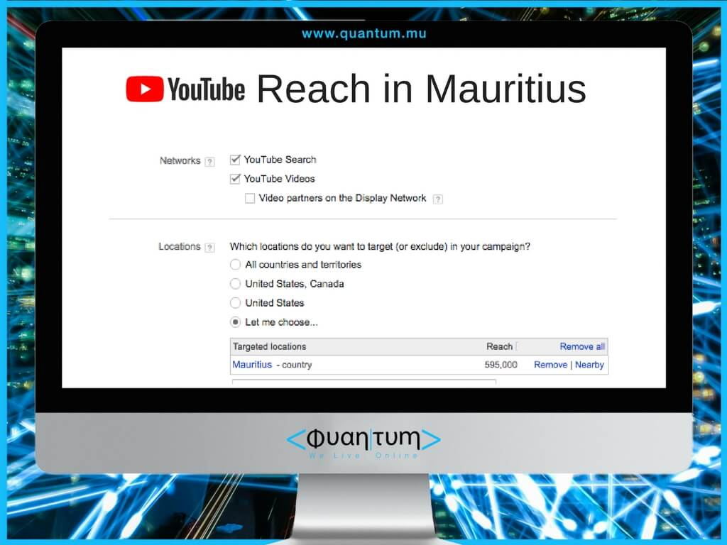 youtube reach in mauritius october 2017