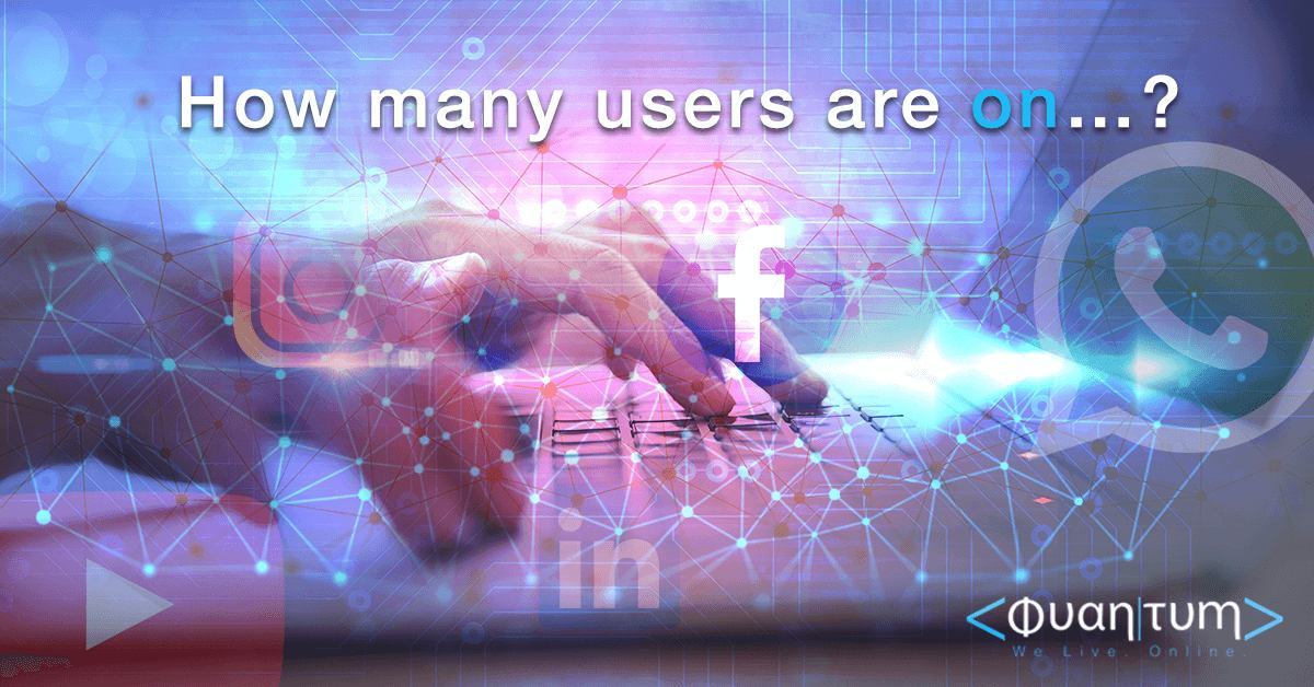 how many users are on facebook, whatsapp, youtube and others