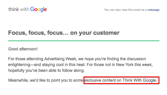 "Screenshot taken from mailing of ""Think with Google"" by Google Inc."