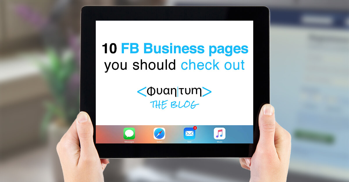 Great facebook for business pages to learn from