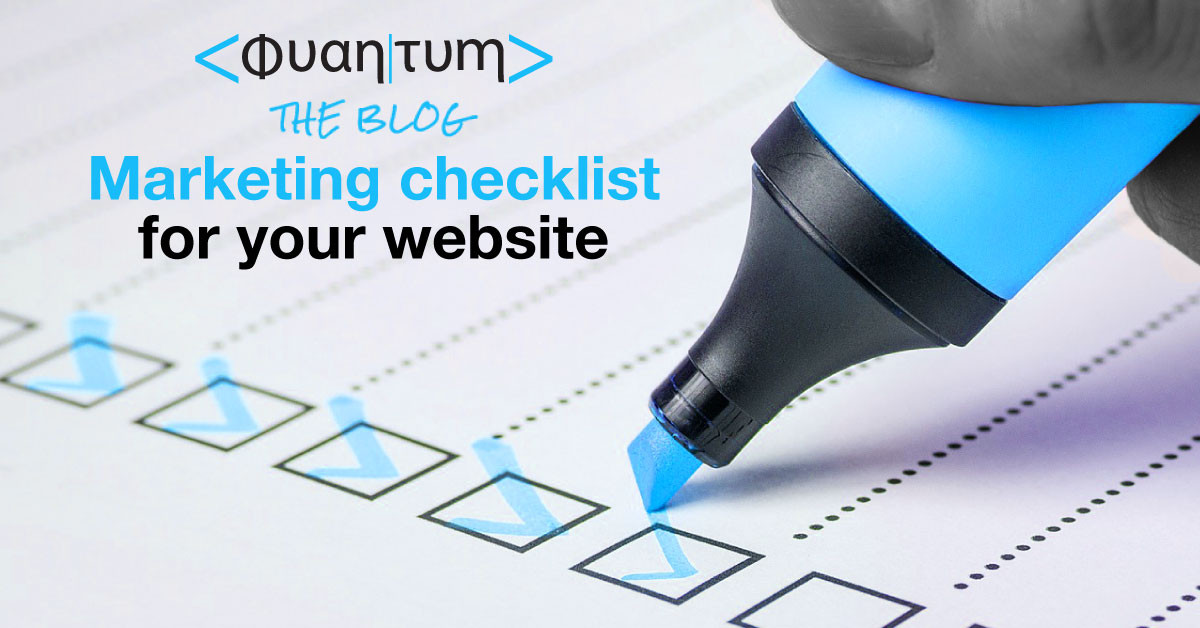marketing checklist for your website